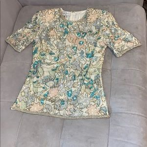 NWT Laurence Kazar Size small evening blouse.